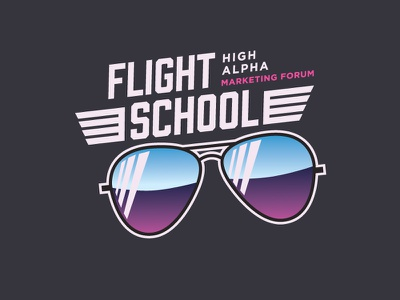 High Alpha Flight School - Top Gun flight school gradient ray bands sunglasses top gun