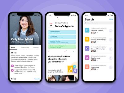 Relationship Improvement App illustration calender mobile app lists agenda profile