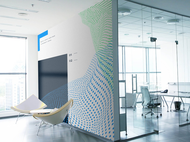 Brand Exploration - Wall space office design branding wall art