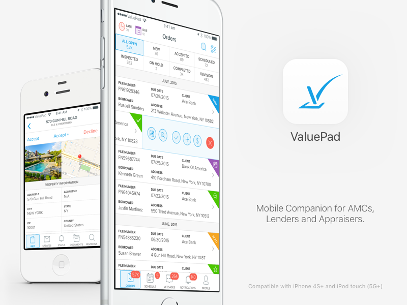 ValuePad Mobile Companion iphone web ux ui simple service saas minimal manage documents dashboard app