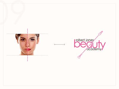 Beauty Academy - Logo Update comparison brush lipstick face after before makeup cut update logo academy beauty