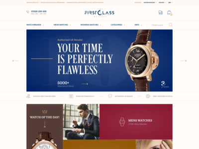 Brand Authorised UK Retailer luxury slider hero landing online store e-commerce retail brand watches