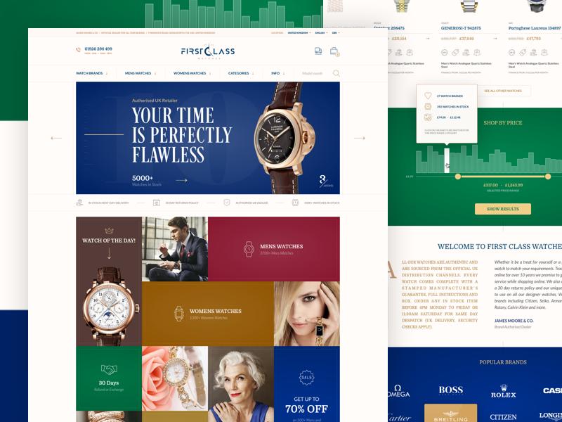 Watch Store watches store slider retail online luxury landing hero e-commerce brand