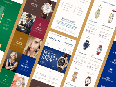 Mobile Version of Watch Store watches store mobile retail online luxury landing responsive e-commerce brand