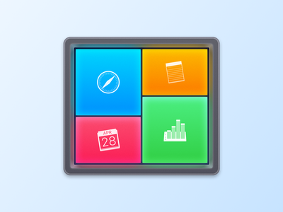 Application Icon with a Dark Border for Switchem ui ux colorful design windows group everyday tasks create ready-made workspaces icon osx smart automation software macos application high sierra mac app