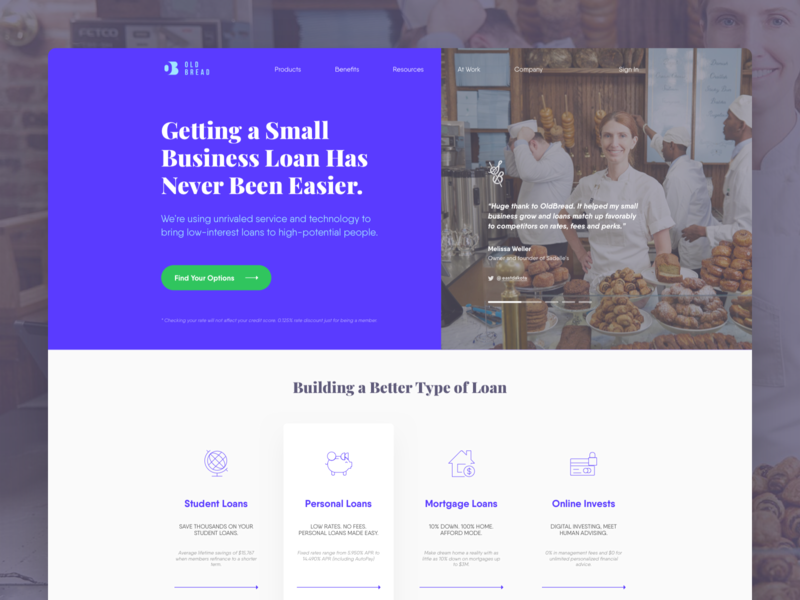 Old Bread • Landing Page