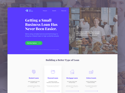 Old Bread • Landing Page website web typography testimonial technology small business slider simple services online mortgage minimal loan layout landing page iso invests enterprise design clean