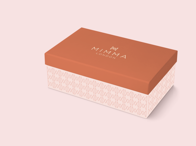Mimma London- Branding woman shoebox shoe brand shoe london luxury brand premium logo brand corporate identity design branding corporate branding