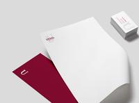 Ussal Consultancy - Branding typographic logo brand identity brand design corporate branding corporate identity design brand branding