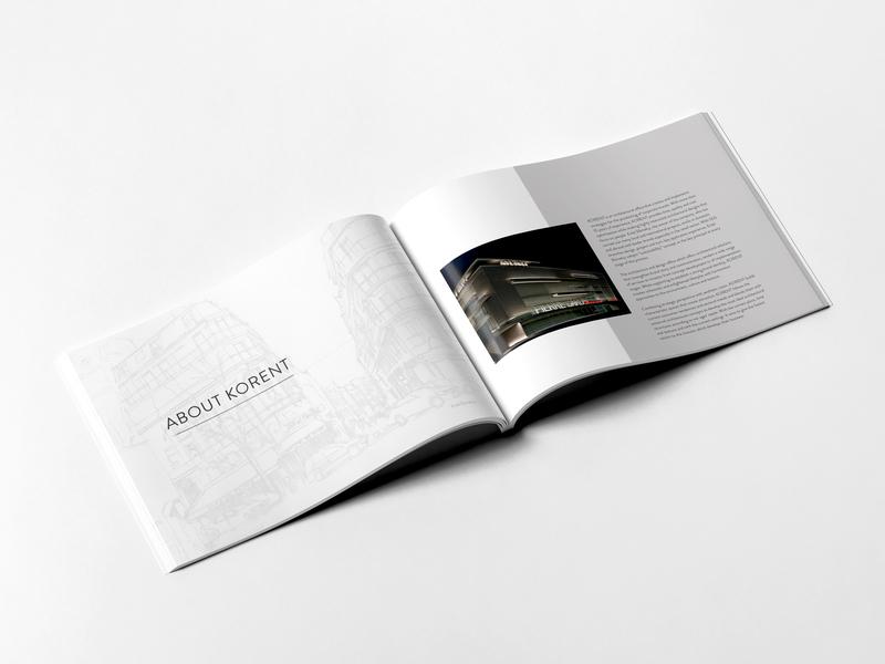 KORENT Design Office - Branding design office architectural design architectural architect layouts layout design layout corporate identity design corporate brochure corporate branding branding graphic deisgn