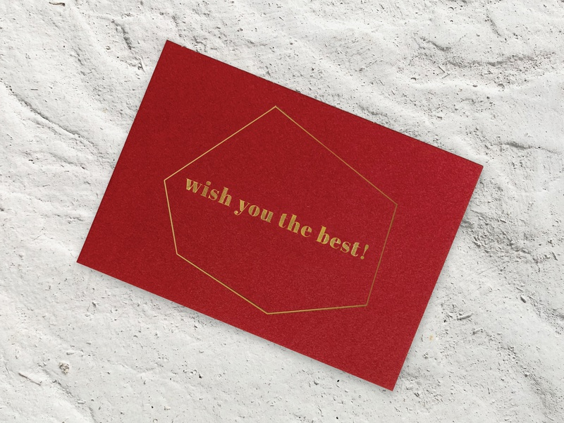 NOA Notes - Branding foil stamp foil stationery design stationery premium postcard design postcard post card luxury logo greetings greeting card wish card wishes congratulation congrats