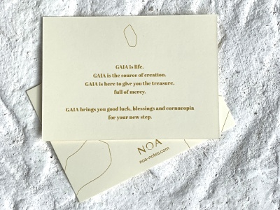 NOA Notes - Branding wish card stationery design stationery premium postcard design postcard greeting card gaia luxurious luxury logo foil corporate branding branding