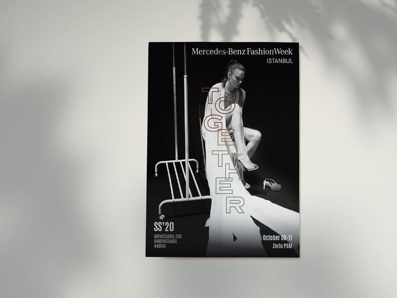 Mercedes-Benz Fashion Week Istanbul SS'20 together graphic design print poster typographic typography concept fashion week fashion art direction visual identity visualization visual visual design key visual