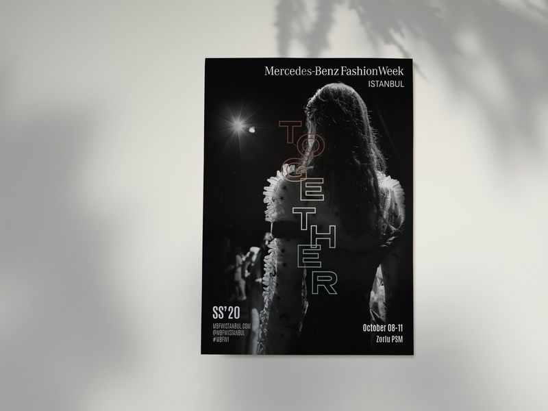 Mercedes-Benz Fashion Week Istanbul SS'20 together visualization visual identity visual design visual typographic typography print poster key visual graphic design fashion week fashion concept art direction