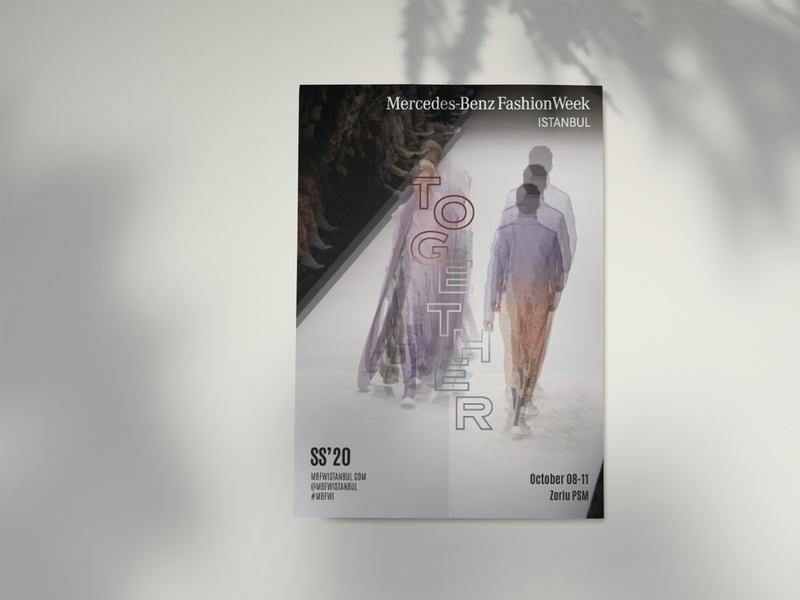 Mercedes-Benz Fashion Week Istanbul SS'20 visual identity visualization visual design visual together typographic typography print poster key visual graphic design fashion week fashion concept art direction