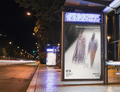 Mercedes-Benz Fashion Week Istanbul SS'20 visual identity billboard visual design visual typographic typography together print poster key visual graphic design fashion week fashion concept art direction