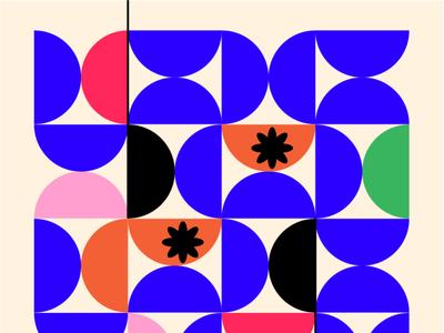 Pattern half circle