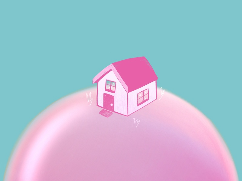 The full image is a house on a lolly pop (: branding illustrator procreate summer design ipad ipadpro illustration design editorialdesign illustration happy fun