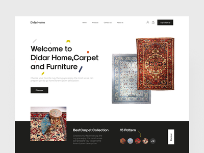 Didar Project shopping store furniture store furniture carpet uidesign web website ui design desktop design landing page landing page design desktop ui landing