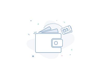 Wallet flat design illustration ilustration ilustrator wallet