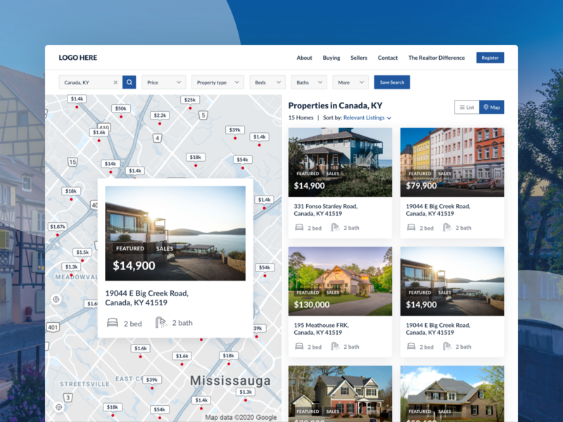 search property shot realestate mapview listing propertysearch realestateagent flat web icon typography designer clean ui sketch ui design