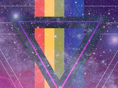 32nd Birthday Bash Poster design galaxy stars space sci-fi shapes geometric retro texture 80s style illustration photoshop
