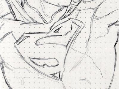 Superman sketch drawing sketchbook art pencil dc superman comic