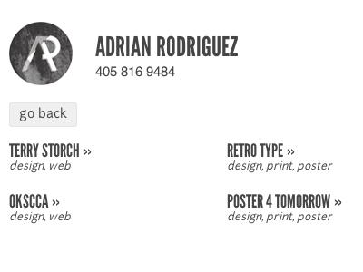 Portfolio menu nav portfolio design