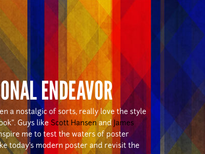 Colorful portfolio design poster web personal