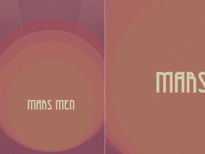 Mars Men Poster retro poster design photoshop band music