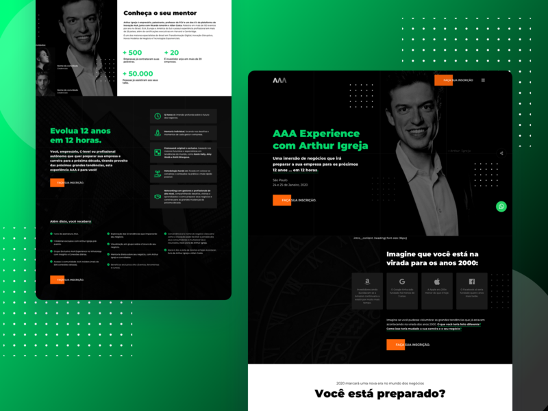 AAA Experience - Landing Page
