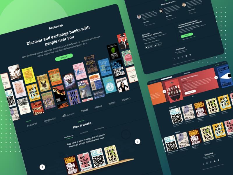 Bookswap - Landing Page