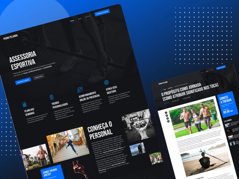 Personal Trainer - Website workout personal trainer responsive web design ux dark site ui design landing page