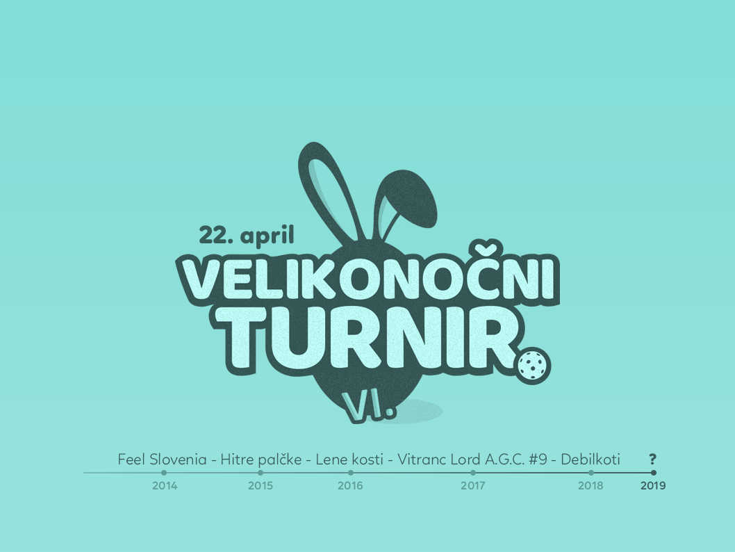 Easter floorball cup 2019 slovenia slovenija graphics graphic design tournament easter unihockey floorball salibandy innebandy