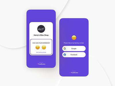 Review Request - TrueReview application reputation satisfaction app design reviews iphone ux ui product design saas webapp