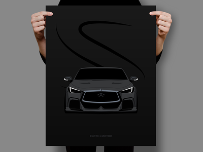 Infiniti Q60 Project Black S Poster Illustration