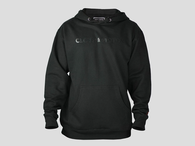 Cloth&Motor Black on Black Hoody