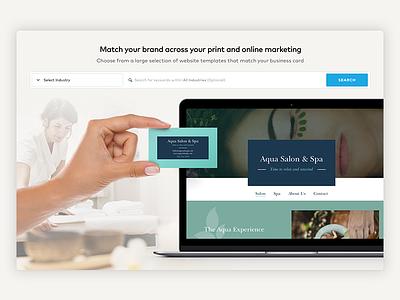 Print + Digital Matching, Vistaprint matching websites business card digital print