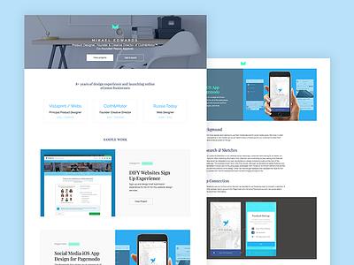 Personal website redesign interactive animations html css ux ui portfolio site website