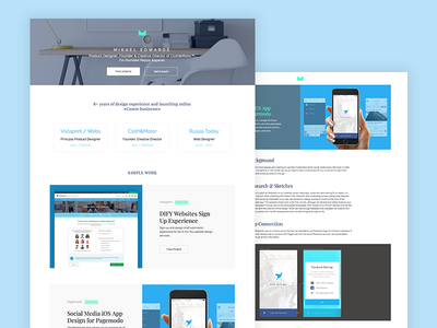 Personal website redesign interactive animations html css ux ui portfolio site website