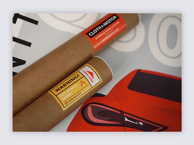 Poster Tube Stickers
