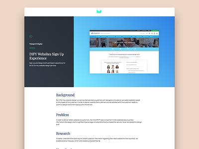 Case Study Page bootstrap responsive website portfolio case study design ux ui
