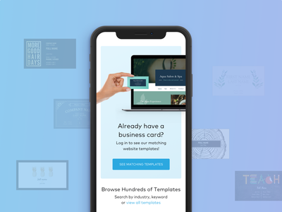 Mobile Responsive Matching Websites business card matching design ui website