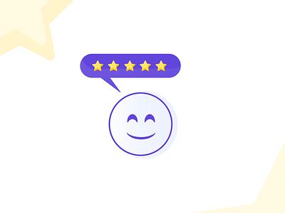 Happy Review emoji smile happy stars review