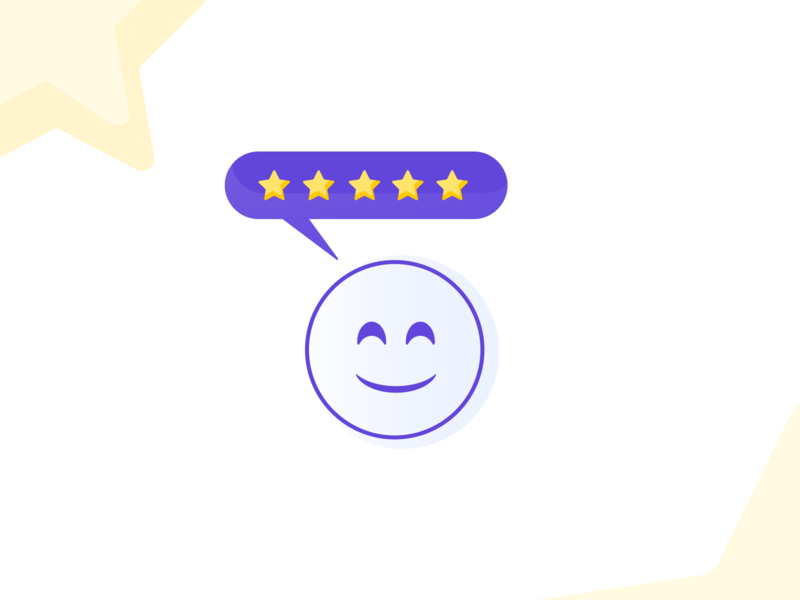 Happy Review emoji smile happy stars review