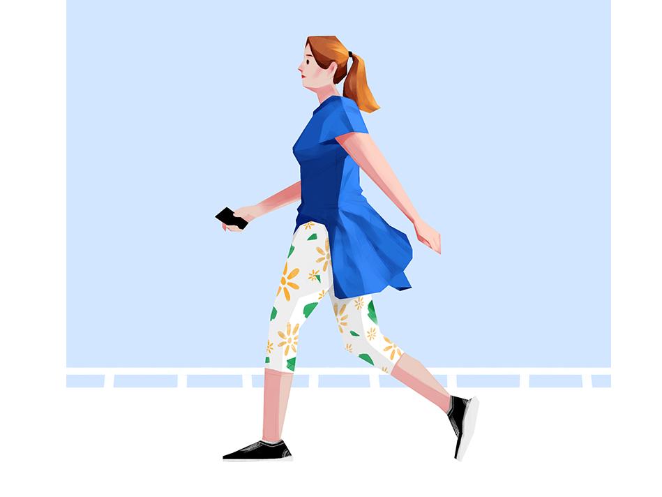 Take A Walk illustration 插图