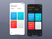 Finance App. Light and Dark mode