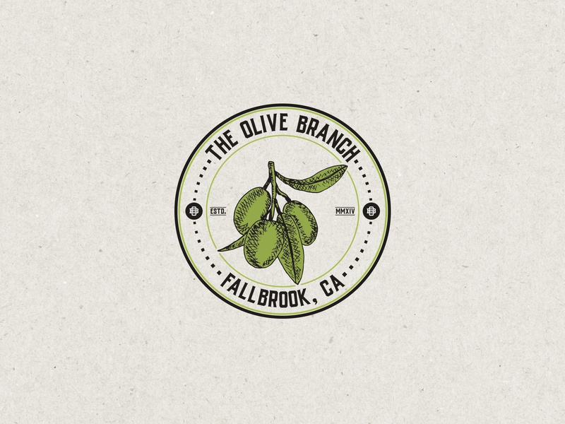 Branding - The Oliv Branch logo unique vintage design vintage badge retro logo retro modern vintage vintage logo vintage olive oil oil olive branch olive a logo design illustration sketch brand drawing logodesign logo branding
