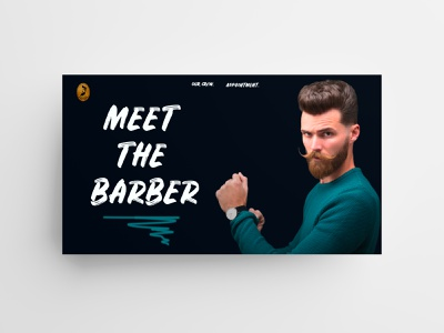 Meet the Barber 💈 user experience trends ux design ui design barber user interface agence digitale marseille agence web marseille branding website design ux ui web landing page webdesign