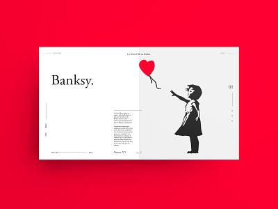Banksy - La Petite Fille au Ballon Rouge artwork ux design ui design art inspiration graffiti art street art banksy digital agency advertising branding website design ux ui web landing page webdesign